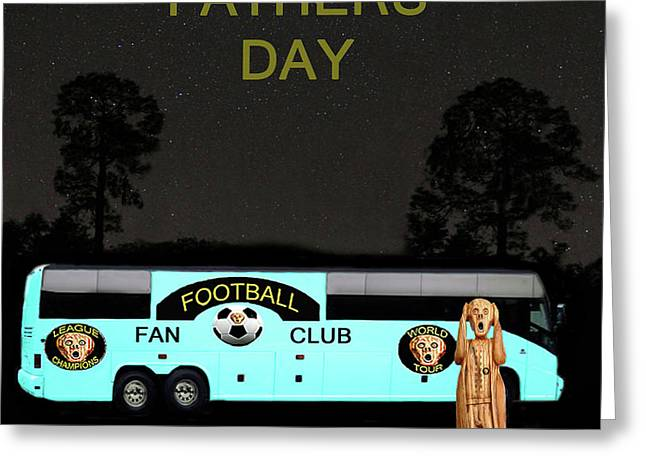 The Scream World Tour Football tour bus Fathers Day Greeting Card by Eric Kempson