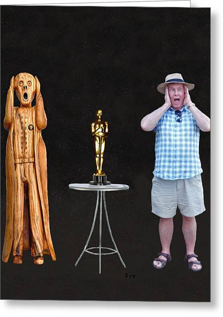 Best Of Red Carpet Greeting Cards - The Scream World Tour Oscars with Peter Beddoes Greeting Card by Eric Kempson