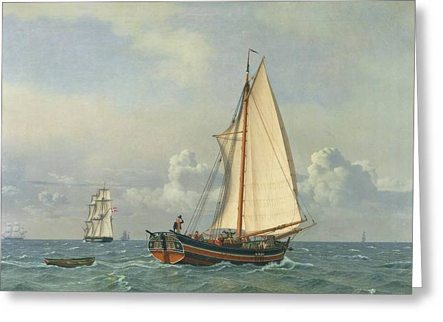 The Sea Greeting Cards - The Sea Greeting Card by Christoffer Wilhelm Eckersberg