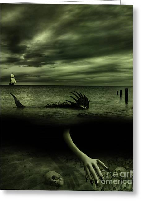 Macabre Digital Art Greeting Cards - The Sea Hunter Greeting Card by Alexei Solha