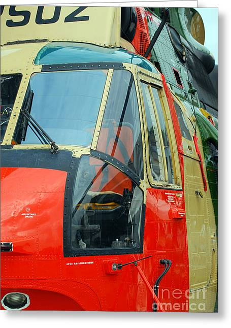 Air Component Greeting Cards - The Sea King Helicopter Used Greeting Card by Luc De Jaeger