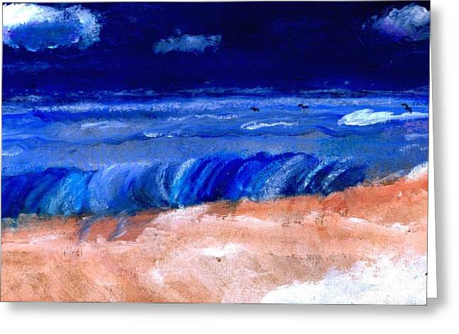 Ocean. Reflection Drawings Greeting Cards - The Sea Greeting Card by Melvin Moon