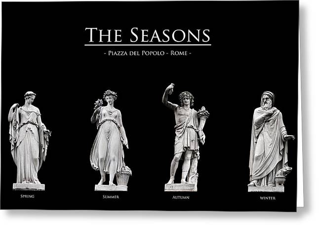 Cut-outs Greeting Cards - The Seasons Greeting Card by Fabrizio Troiani