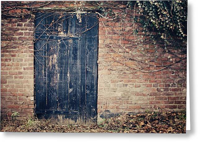 Stockade Greeting Cards - The Secret Door Greeting Card by Lisa Russo