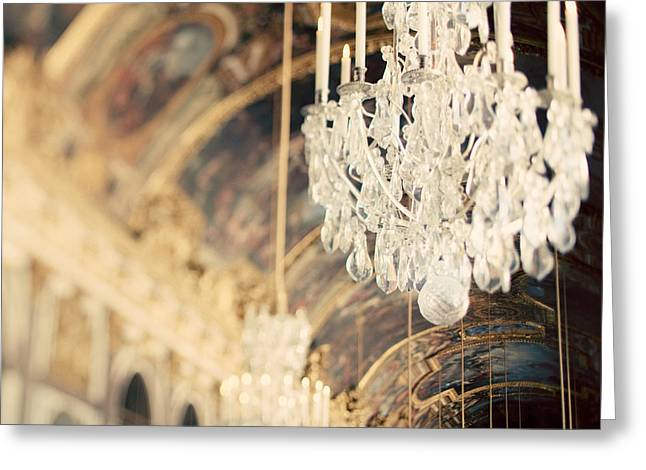Chandelier Greeting Cards - The Secret History Greeting Card by Irene Suchocki