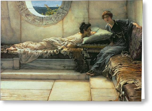 The Secret Greeting Card by Sir Lawrence Alma-Tadema