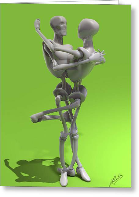 Agnostic Greeting Cards - The seduction of the machines Greeting Card by Joaquin Abella