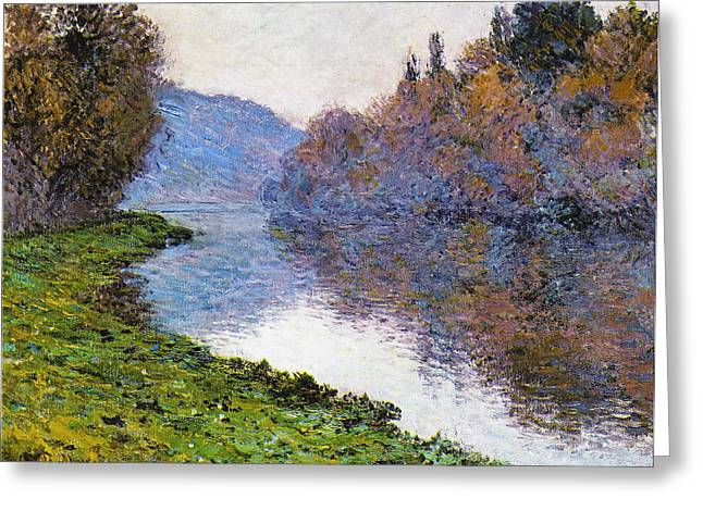 The Trees Greeting Cards - The Seine at Jenfosse Greeting Card by Claude Monet