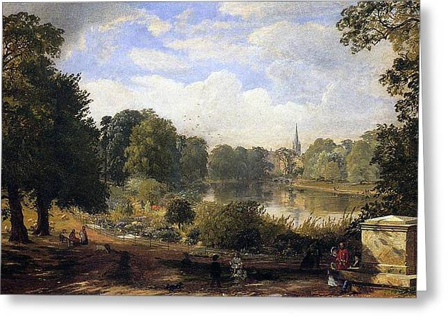 Jasper Greeting Cards - The Serpentine Greeting Card by Jasper Francis Cropsey