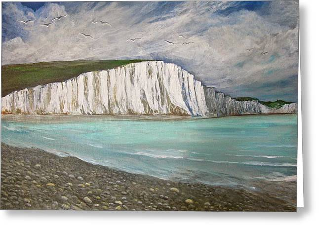 The Seven Sisters Greeting Card by Heather Matthews