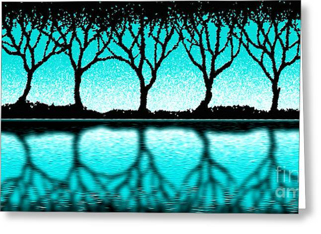 Cristopher Ernest Greeting Cards - The Seven Trees Greeting Card by Cristophers Dream Artistry