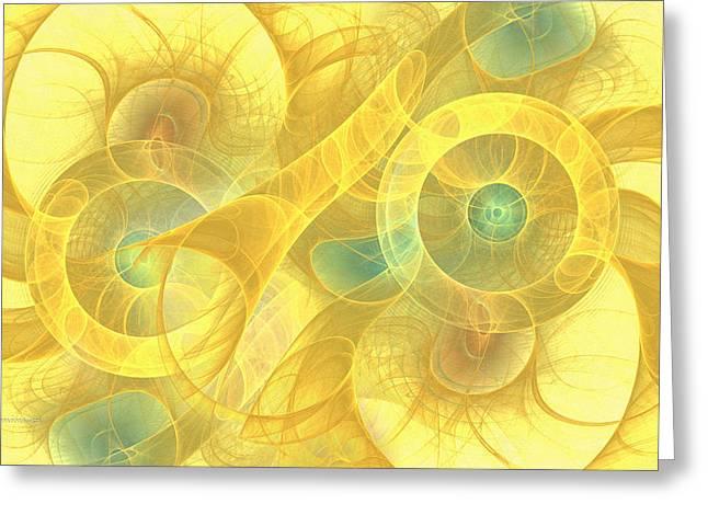The Seven Veils Greeting Card by Georgiana Romanovna