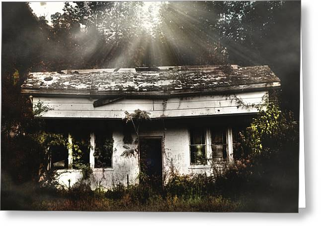 Spirtual Greeting Cards - The Shack Greeting Card by Jessica Brawley