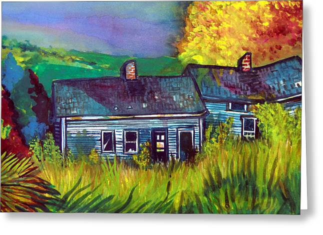 Shed Drawings Greeting Cards - The Shack Greeting Card by Mindy Newman