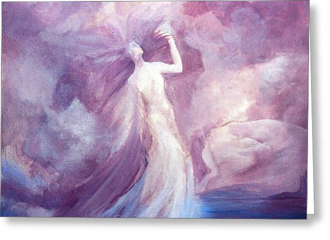 Empowerment Greeting Cards - Rising From The Ashes Greeting Card by Teresa Leigh Ander