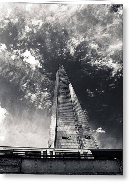 Runnycustard Greeting Cards - The Shard and London Bridge Greeting Card by Lenny Carter
