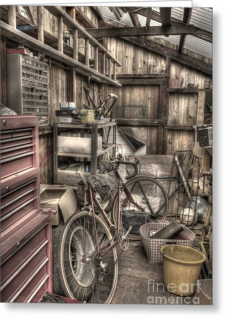 Tool Chest Greeting Cards - The Shed Greeting Card by John Ellison