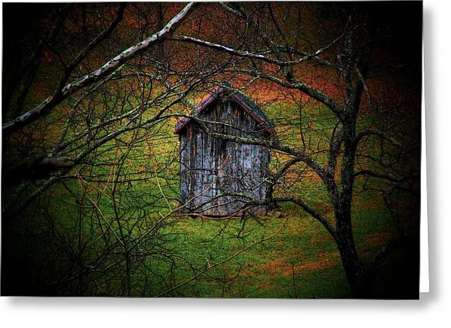 Wood Shed Greeting Cards - The Shed Greeting Card by Michael L Kimble