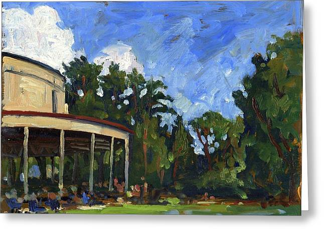 Thor Paintings Greeting Cards - The Shed Tanglewood Greeting Card by Thor Wickstrom