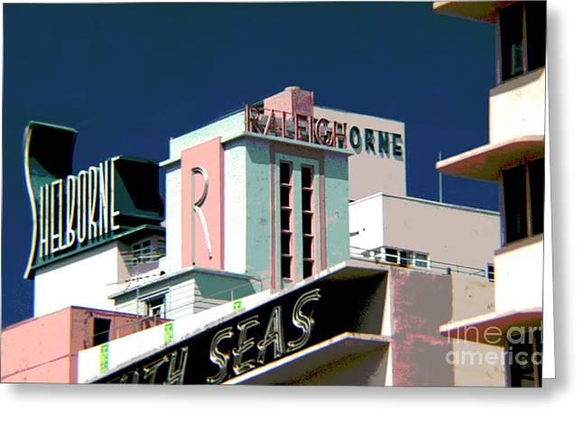 Photographers Dacula Greeting Cards - The Shelborne Hotel Miami Florida Greeting Card by Corky Willis Atlanta Photography