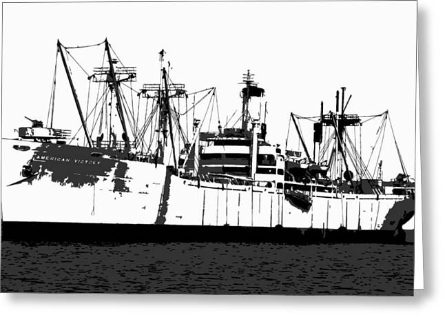 Old Ship Art Greeting Cards - The Ship Greeting Card by David Lee Thompson
