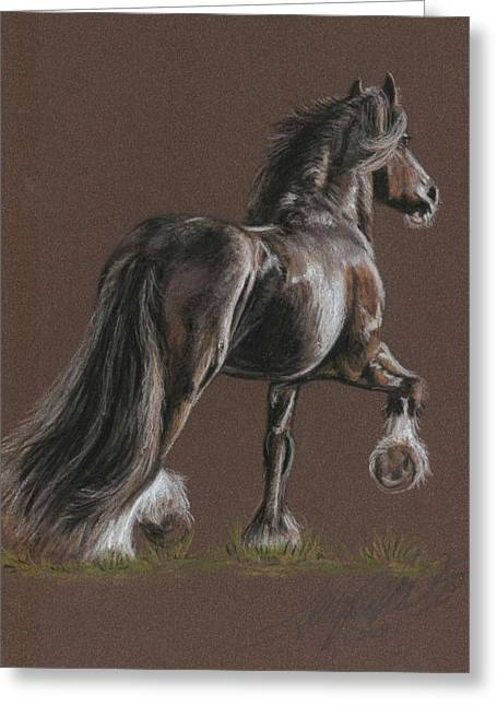 Stallion Pastels Greeting Cards - The Shire Greeting Card by Terry Kirkland Cook