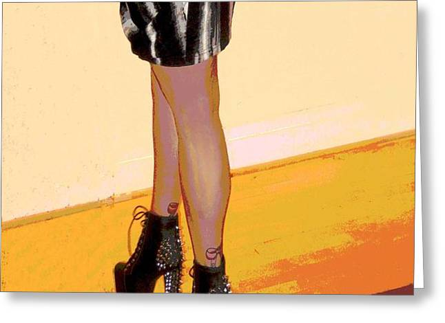 The Shoes Greeting Card by Ann Powell