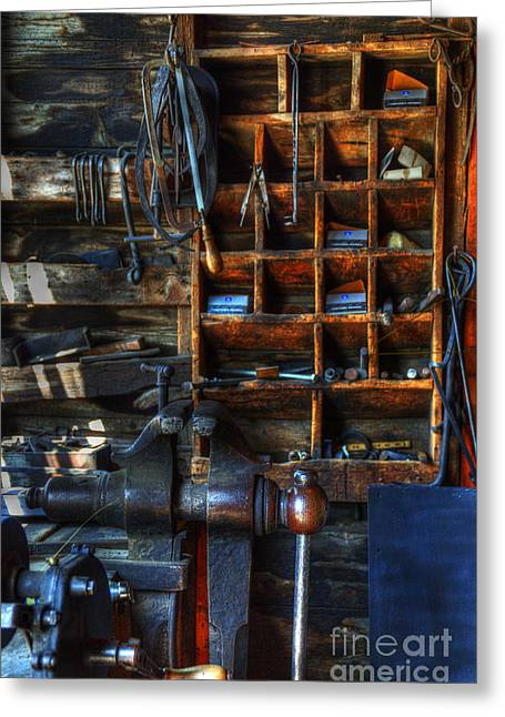 Work Place Greeting Cards - The Shop Greeting Card by Bob Christopher
