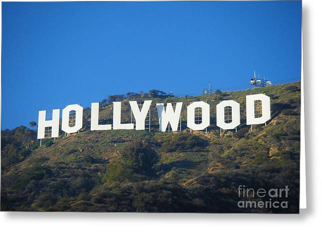 Plant Hollywood Greeting Cards - The Sign Greeting Card by Micah May