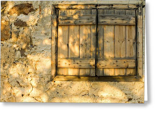 Window Frame Greeting Cards - The Simple Life Greeting Card by Meirion Matthias