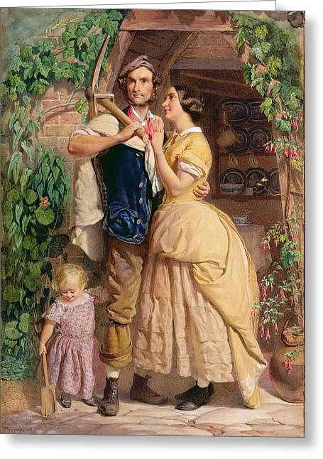Conversations Greeting Cards - The Sinews of Old England Greeting Card by George Elgar Hicks