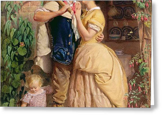 The Sinews of Old England Greeting Card by George Elgar Hicks