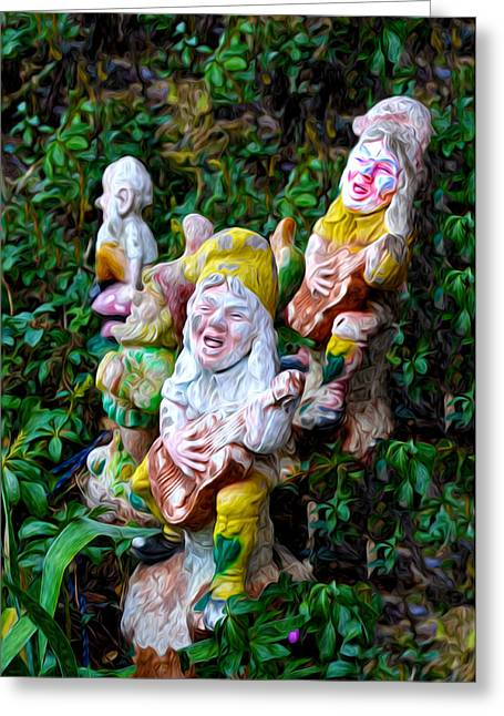 Nome Greeting Cards - The Singing Gnomes Greeting Card by Bill Cannon