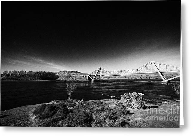 Coastal Route Greeting Cards - The Single Track Connel Bridge On The A828 Coastal Route Road Over Loch Etive Argyll Scotland Greeting Card by Joe Fox