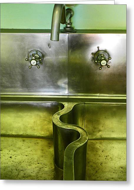 Faucet Greeting Cards - The Sink Greeting Card by Elizabeth Hoskinson