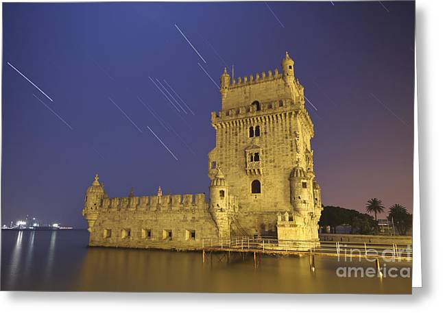 Sirius Greeting Cards - The Sirius Star And Constellation Orion Greeting Card by Miguel Claro