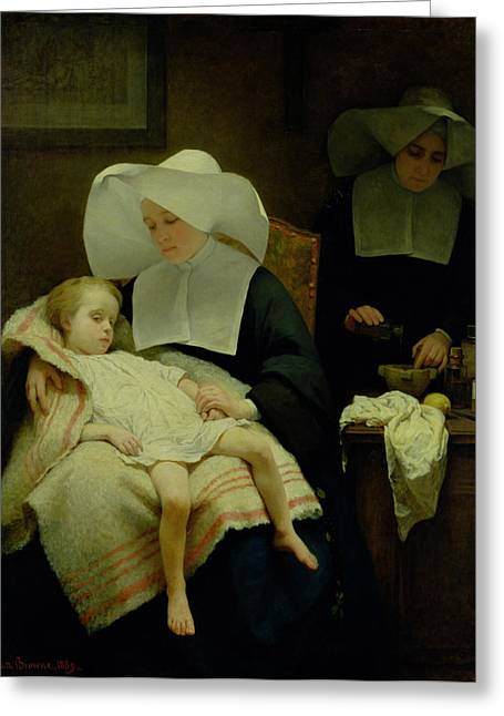 Henriette Greeting Cards - The Sisters of Mercy Greeting Card by Henriette Browne