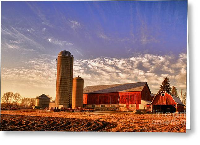 Wisconsin Barn Greeting Cards - The Skittles Barn Greeting Card by Joel Witmeyer