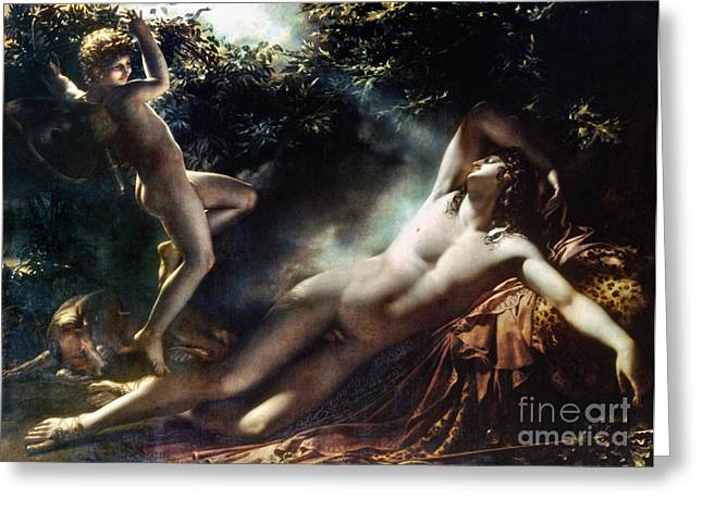 Endymion Greeting Cards - The Sleep Of Endymion Greeting Card by Granger