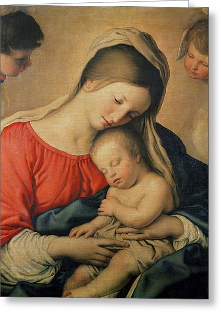 Devotional Greeting Cards - The Sleeping Christ Child Greeting Card by Il Sassoferrato