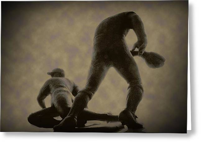 Citizens Bank Digital Art Greeting Cards - The Slide - Kick Up Some Dust Greeting Card by Bill Cannon