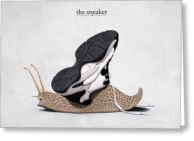 Trainer Greeting Cards - The Sneaker Greeting Card by Rob Snow