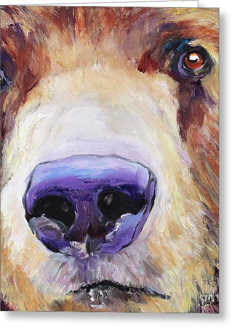 Macro Paintings Greeting Cards - The Sniffer Greeting Card by Pat Saunders-White