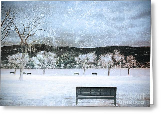 Orchard Digital Art Greeting Cards - The Snow Storm Greeting Card by Tara Turner