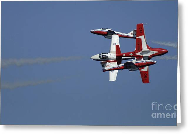 Military Aviation Photos Greeting Cards - The Snowbirds Fourplay Greeting Card by Bob Christopher
