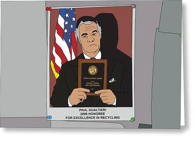 Tv Show Greeting Cards - The Sopranos - Paulie Gualtieri Greeting Card by Tomas Raul Calvo Sanchez