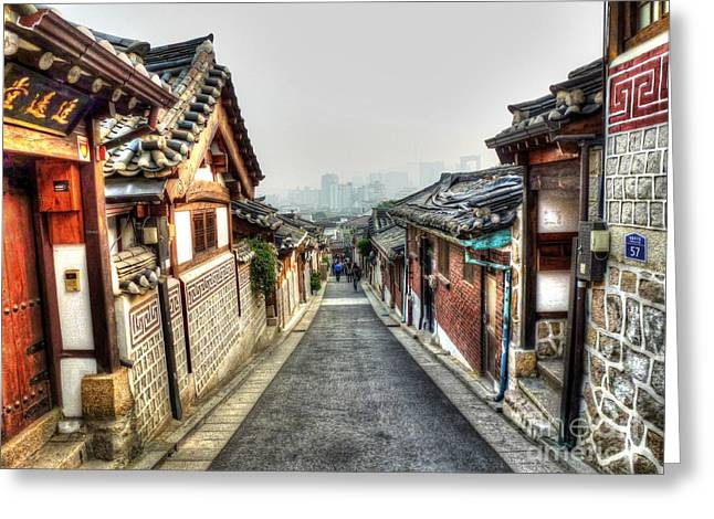 Walking Paths Greeting Cards - The Soul of Seoul Greeting Card by Michael Garyet