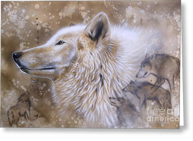 Arctic Paintings Greeting Cards - The Source VI Greeting Card by Sandi Baker