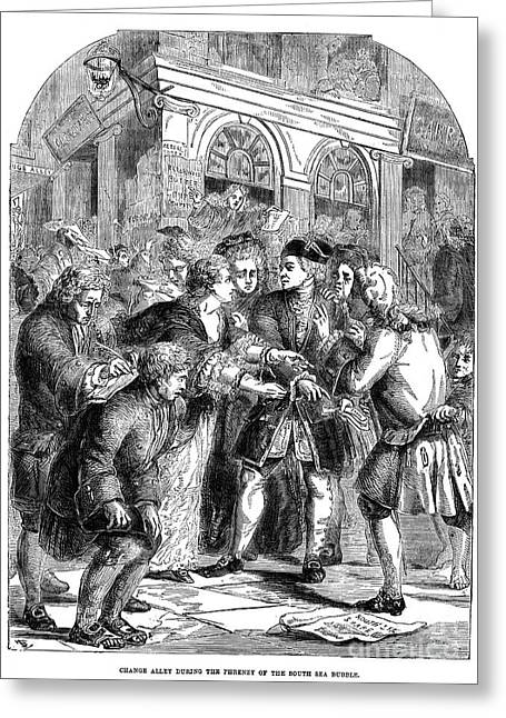 The South Sea Bubble, 1720 Greeting Card by Granger