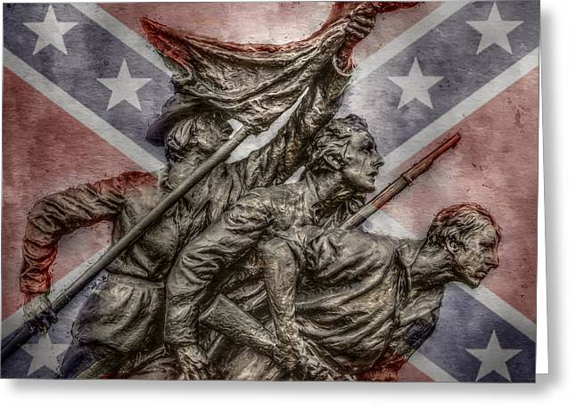 Confederate Flag Greeting Cards - The South Will Rise Again Greeting Card by Randy Steele